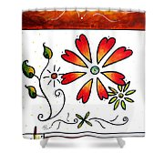 Abstract Decorative Greeting Card Art Thank You By Madart Shower Curtain