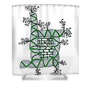 Abstract Design Of Stumps And Bricks #1 Shower Curtain