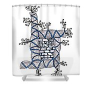 Abstract Design Of Stumps And Bricks #2 Shower Curtain