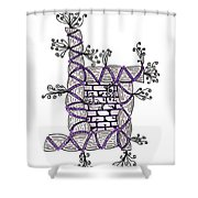 Abstract Design Of Stumps And Bricks #3 Shower Curtain