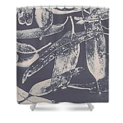 Abstract Design Tree Leaves Background Shower Curtain