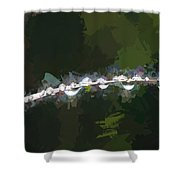Abstract Dew On Reed Shower Curtain
