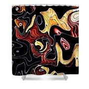 Abstract Digital Art #030 Shower Curtain