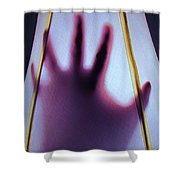 Abstract Digits Shower Curtain