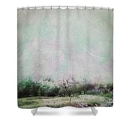 Abstract Down The Road Shower Curtain