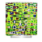 Abstract Dr #6 Shower Curtain