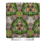 Abstract Dragons Shower Curtain