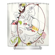 Abstract Drawing Fifty-four Shower Curtain