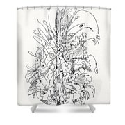 Abstract Drawing Fifty-nine Shower Curtain