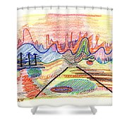 Abstract Drawing Five Shower Curtain