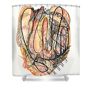 Abstract Drawing Forty-five Shower Curtain