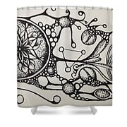 Abstract Drawing Shower Curtain