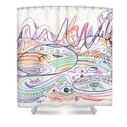 Abstract Drawing Nineteen Shower Curtain