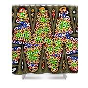 Abstract Drawing Panel Shower Curtain
