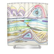 Abstract Drawing Seventeen Shower Curtain