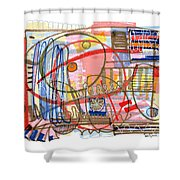 Abstract Drawing Sixty-eight Shower Curtain