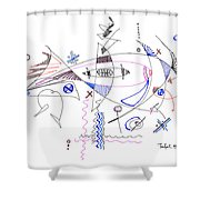 Abstract Drawing Sixty-four Shower Curtain