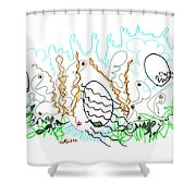 Abstract Drawing Sixty-one Shower Curtain