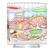 Abstract Drawing Sixty-two Shower Curtain