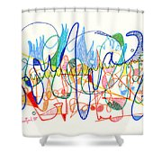 Abstract Drawing Two Shower Curtain