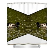Abstract Ducks Shower Curtain
