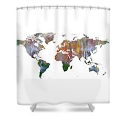 Abstract Earth Art Shower Curtain