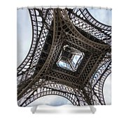 Abstract Eiffel Tower Looking Up 2 Shower Curtain