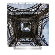 Abstract Eiffel Tower Looking Up Shower Curtain