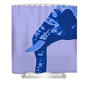 Abstract Elephant Doll Blue Shower Curtain
