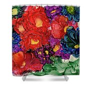 Abstract English Garden Shower Curtain