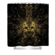 Abstract Evil Clown Portrait Shower Curtain