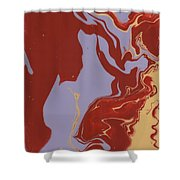 Abstract Ex Shower Curtain