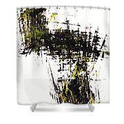 Abstract Expressionism Intensive Painting 62.102511   Shower Curtain