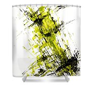 Abstract Expressionism Painting 55.102411 Shower Curtain