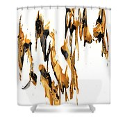 Abstract Expressionism Painting Series 734.102910 Shower Curtain
