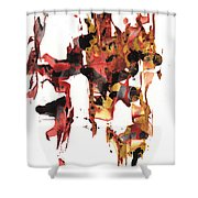 Abstract Expressionism Painting Series 744.102110 Shower Curtain