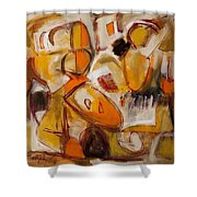Abstract Expressionism Three Shower Curtain