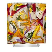 Abstract Expressionism Two Shower Curtain