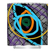 Abstract Eye Shower Curtain