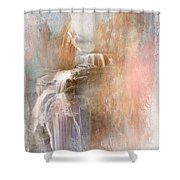 Abstract Falls Shower Curtain