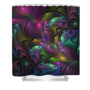 Abstract Fantasy Fractal Shower Curtain