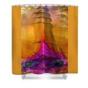 Abstract Fantasy Sailing Shower Curtain