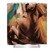 Abstract Female Back  Shower Curtain