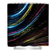 Abstract Fiber Shower Curtain