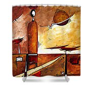 Abstract Figurative Art African Flame By Madart Shower Curtain