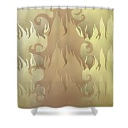Abstract Fire Shower Curtain