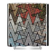 Abstract Floor  Shower Curtain