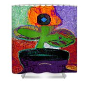 Abstract Floral Art 114 Shower Curtain