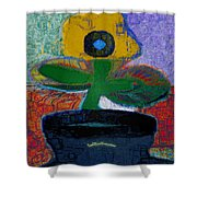 Abstract Floral Art 115 Shower Curtain