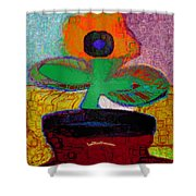 Abstract Floral Art 116 Shower Curtain